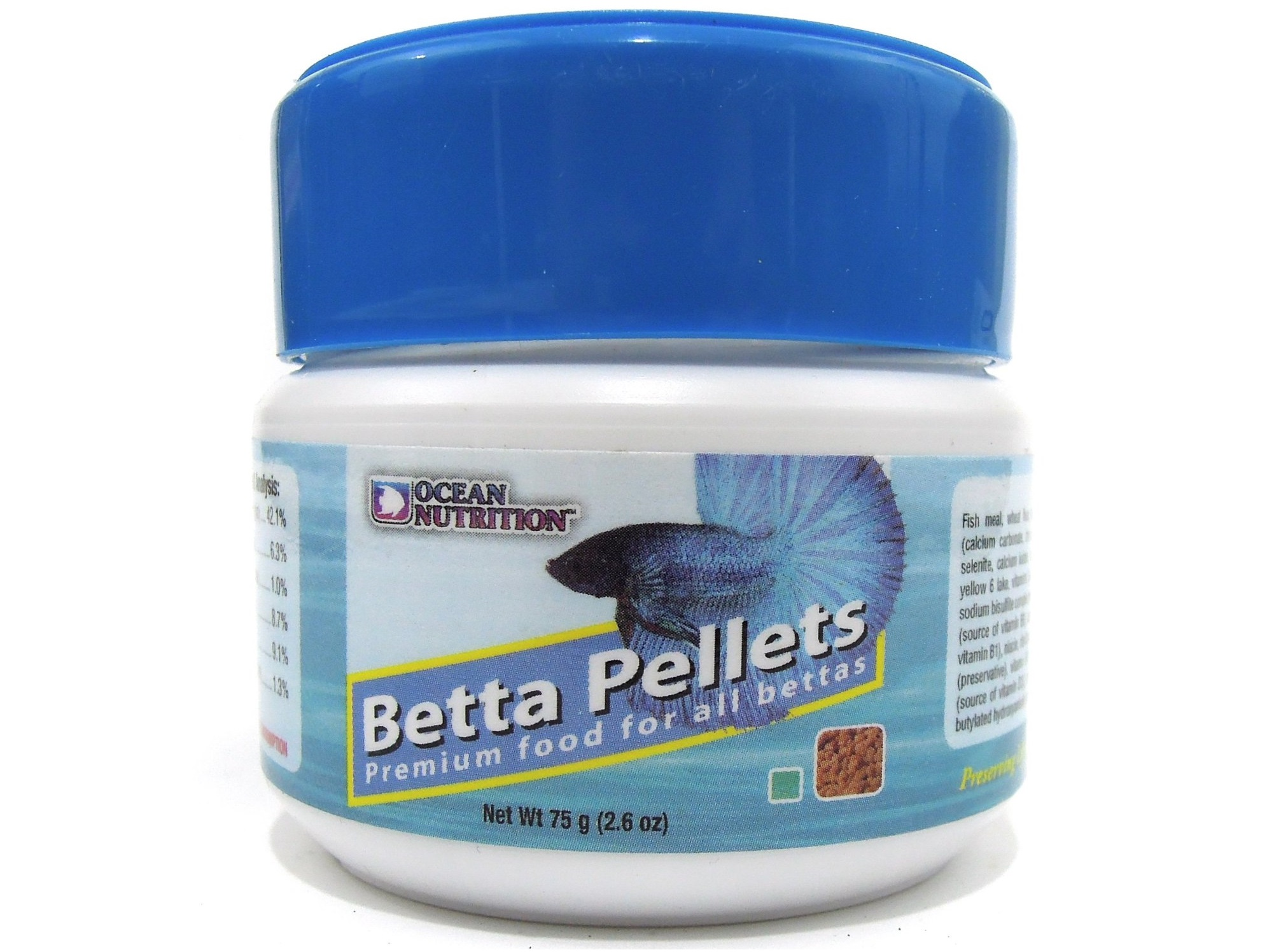 Ocean nutrition betta pellets land of fish for Betta fish pellets